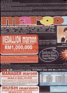 Iklan Maroon di Harian Metro