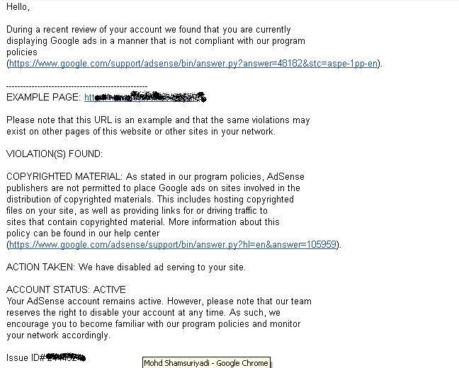 Emel Amaran Google Adsense