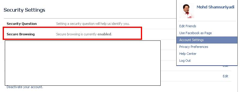 Security Setting FB