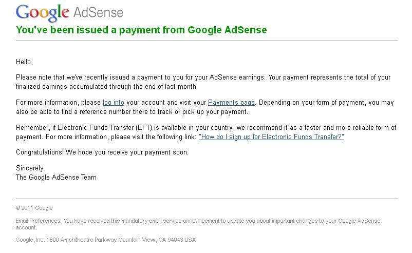 Bayaran Google Adsense